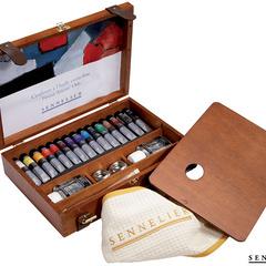 caja de madera de lujo 15 tubos 21ml